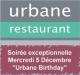 Le restaurant Urbane fête son 1er anniversaire
